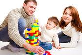 Rodzina gra — Zdjęcie stockowe