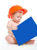 Baby reading — Stock Photo