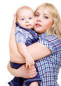 Mom hugging baby — Stock Photo