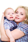 Woman holding son — Stock Photo