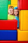 Dwie dziewczynki — Zdjęcie stockowe