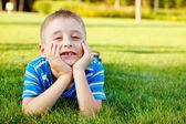 Ragazzo ridendo — Foto Stock