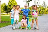 Happy preschool team — Stock Photo