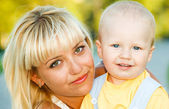 Woman with toddler — Stock Photo