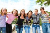 Teenage group — Stock Photo