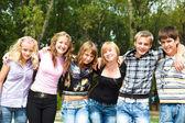 College friends — Стоковое фото