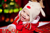 Cheerful Santa helper — Stock Photo