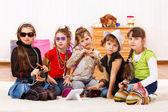 Fashionable little girls — Stock Photo