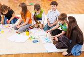 Kids schilderij — Stockfoto