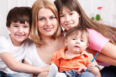 Mother and children — Stock Photo