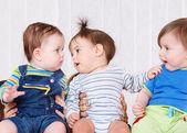 Three babies — Stock Photo