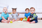 Four toddlers — Stock Photo