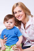 Female with her son — Stock Photo