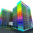 Color building — Stock Photo