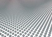 Metal spheres in rows — Stock Photo