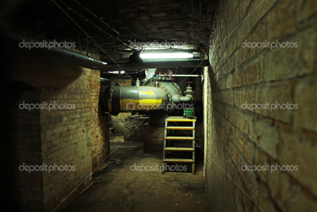 Dark basement of an old building — Photo #5453238