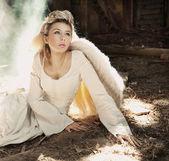 Beautiful angel woman — Stock Photo