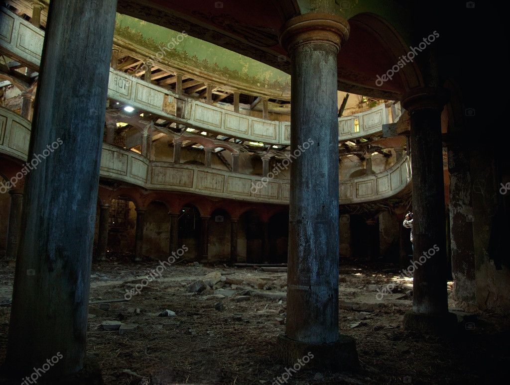 Photo of an old destroyed theatre — Stock Photo #5603969