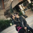 Young handsome couple kissing — ストック写真