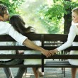 Conceptual photo of a marital infidelity - Stock Photo