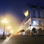 Город улица ночью — Стоковое фото