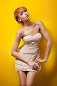 Sexy redhair woman posing — Stock Photo