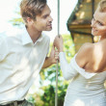 Cheerful couple — Stock Photo