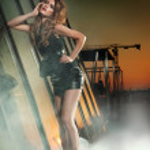 Fine art photo of a lady in stylish dress — Stock Photo #6277356