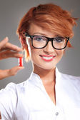 Nice doctor with pills — Stock Photo