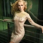 Fashion photo of beautiful blonde lady — Stock Photo
