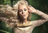Portret van een blonde schoonheid — Foto de Stock