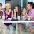 Cheerful group of friends - Foto Stock