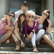 Group of friends on vacation — Stock Photo #6578875