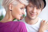 Portrait of a cute couple — Stockfoto