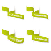 Set of design elements banners ribbons vector — Stock Photo