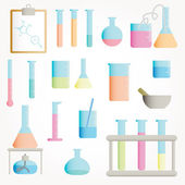Chemical objects vector illustration — Stock Photo