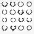 Stock Photo: Vector version. Set of laurel wreaths crown.