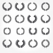 Royalty-Free Stock Photo: Vector version. Set of laurel wreaths crown.