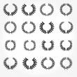 Vector version. Set of laurel wreaths crown. — Stock Photo