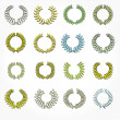 Vector version. Set of laurel wreaths crown. — Stock Photo