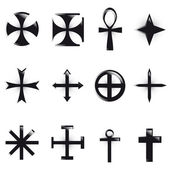 Set Crosses vector. various religious symbols — Stock Photo