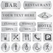 Vector Old silver plates and signboards — Stock Photo