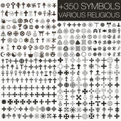 350 vector. various religious symbols — Stock Photo