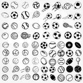 Set Ball sports icons symbols comic vector illustration — Stock Photo
