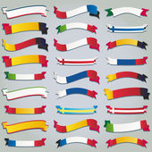 Vector set ribbons flags europe — Stock Vector