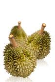 Durian on white glaze background — Stock Photo