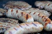 Brats and Burgers — Stock Photo