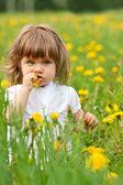 Menina em um prado — Fotografia Stock