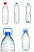 Set of plastic water bottles — Stock Photo