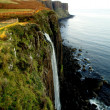 Waterfall of Kilt Rock, Scotland - Stock Photo